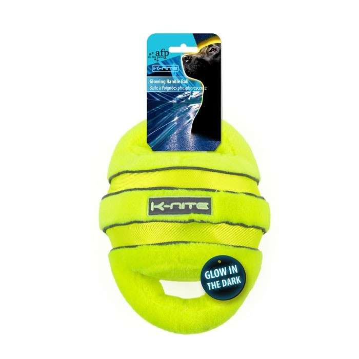 All for Paws K-Nite Glowing Handle Ball  Handle Ball  Kalk