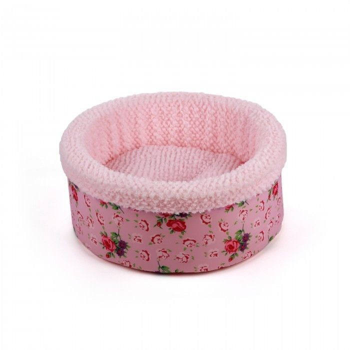 All for Paws Shabby Chic Round Bed Pink  Rosado Round