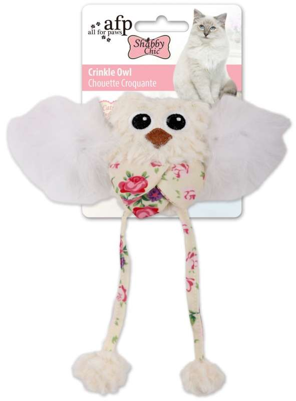 All for Paws Shabby Chic Crinkle Owl 35x11x9 cm