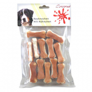 Chewing bone with chicken, 12 pieces (5cm) 12 Stykke