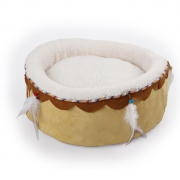 Dreams Catcher Round Cuddler Bed Beige