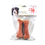 Chewing bone with Chicken, 2 pieces (10cm) 2St