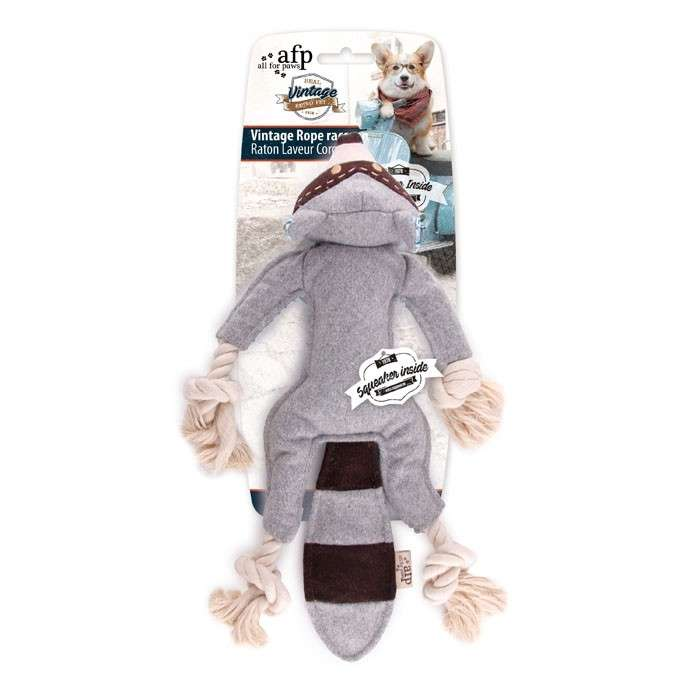 All for Paws Vintage Pet Vintage Rope Raccoon