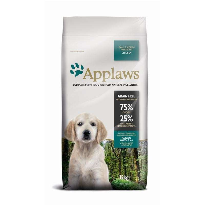 Applaws Puppy Small & Medium Breed met Kip 7.5 kg, 2 kg, 15 kg test