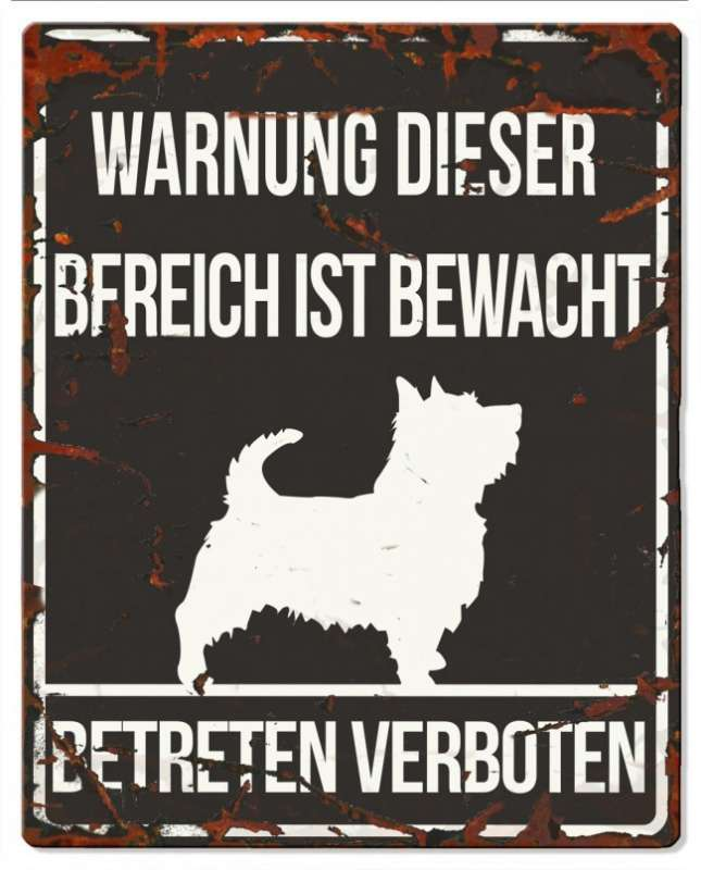 Europet-Bernina D&D Homecollection, Warnschild Terrier, schwarz/weiß Schwarz Terrier, quadratisch