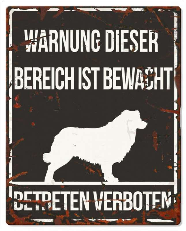 Europet-Bernina D&D Homecollection, Warnschild Collie, schwarz/weiß Schwarz Collie, quadratisch