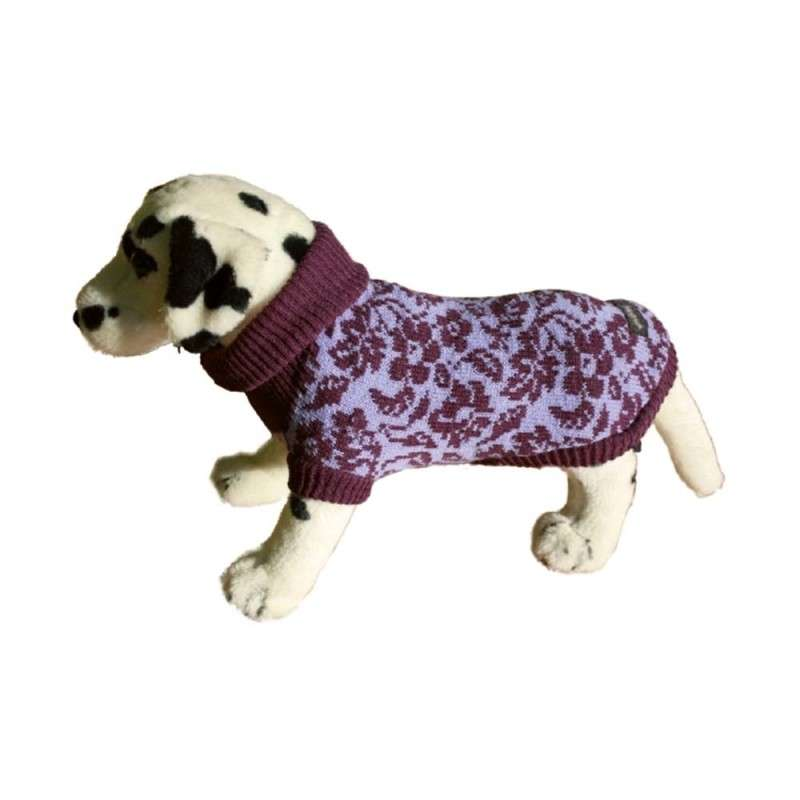Amiplay Dog Sweater - Violet Flowers  26 cm Violet Flowers
