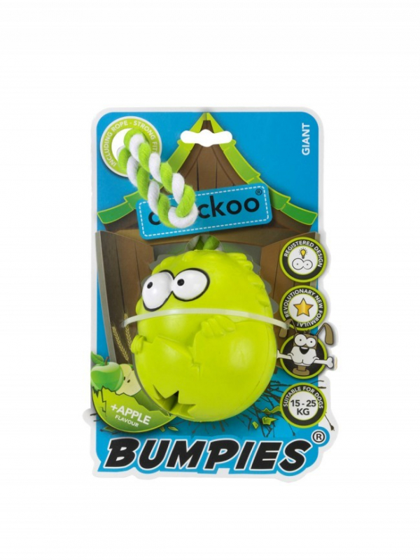 EBI Coockoo Bumpies Giant Apple con Cuerda 70x56x48 mm