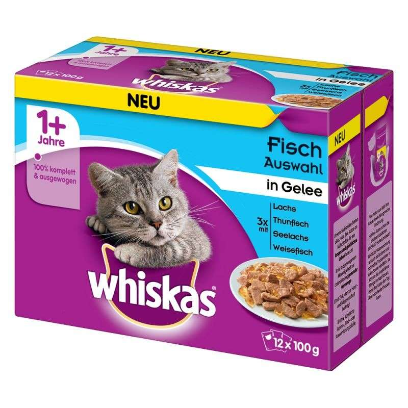 Whiskas Fish Selection in Jelly 1+ 12x100 g