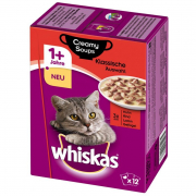 Whiskas 1+ Creamy Soups - Meaty Selection 12x85 g