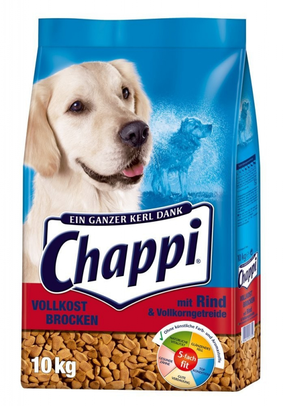 Chappi Wholegrain chunks with Beef, Vegetables and Cereals 10 kg, 3 kg