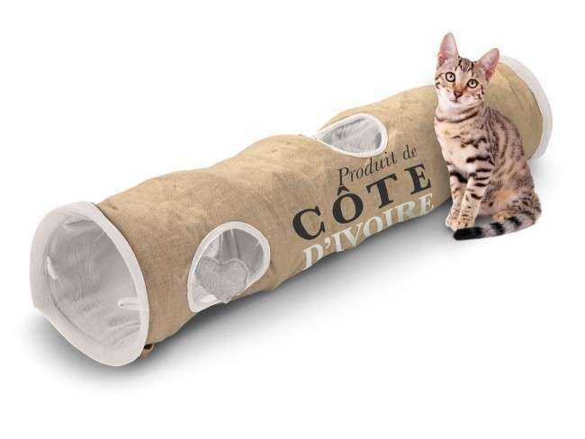 EBI D&D Homecollection Cat Tunnel Cote D'ivoire  Cote D'ivoire  120x25x25 cm