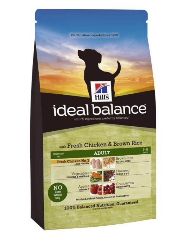 Hill's Ideal Balance Canine - Adult Pollo & Arroz Integral 12 kg 0052742312705 opiniones