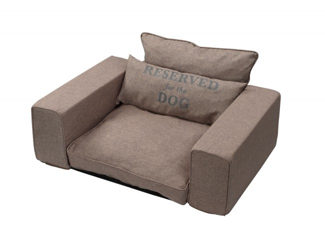 EBI D&D Homecollection Reserved - Pet-Sofa taupe  Topo 95x65x45 cm