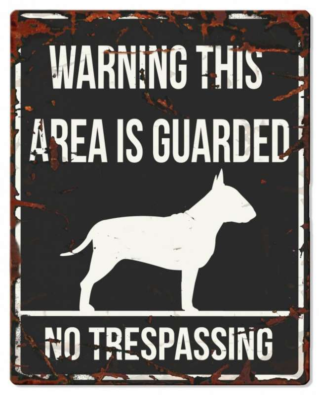 Europet-Bernina D&D Homecollection Warning Sign - Square Bull Terrier Black - English Version Mini Chihuahua  4047059434406 anmeldelser