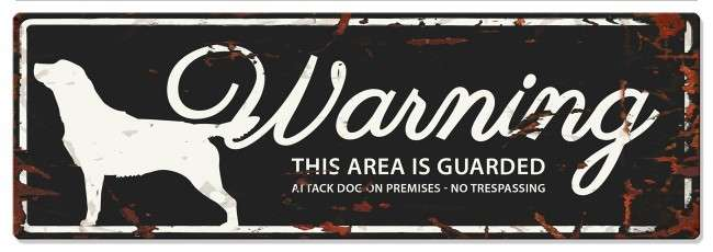 Europet-Bernina D&D Homecollection Warning Sign - Retriever Black - English Version Mini Chihuahua  4047059434406 anmeldelser
