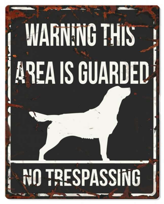 Europet-Bernina D&D Homecollection Warning Sign - Square Retriever Black - English Version Mini Chihuahua