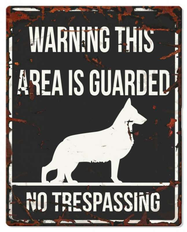 Europet-Bernina D&D Homecollection Warning Sign - Square German Shepherd Black - English Version Mini Chihuahua  4047059434406 anmeldelser