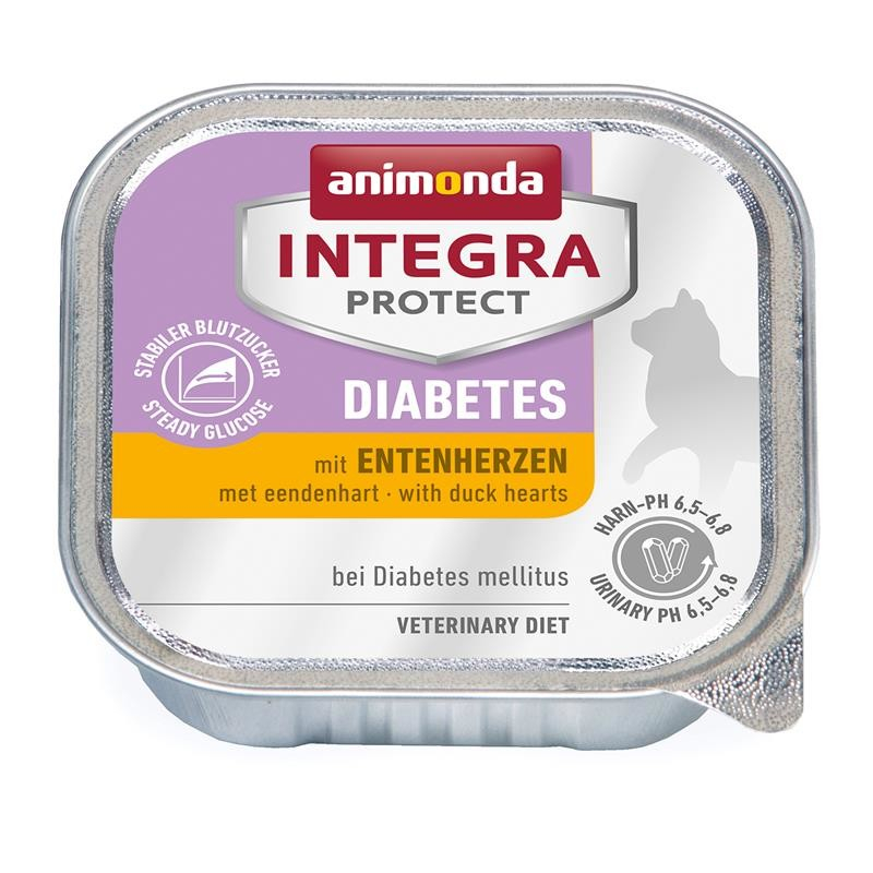 Animonda Integra Protect Diabetes Adult con Corazones de Pato 100 g