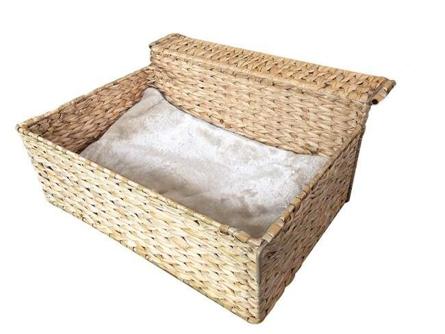Europet-Bernina Radiator Bed Cloud Nine water-hyacinth Beige 47x40x20 cm