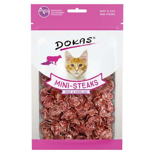 Dokas Mini-Steaks Rind & Kabeljau 40 g 4251276201868