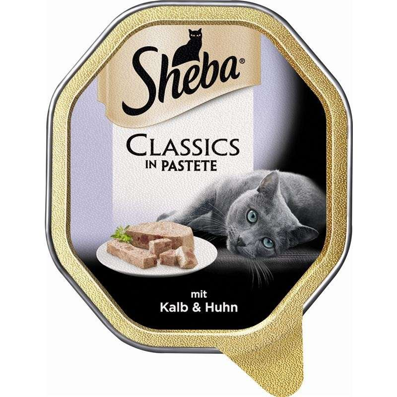 Sheba Classics in Pâté with Veal & Chicken Tray 85 g