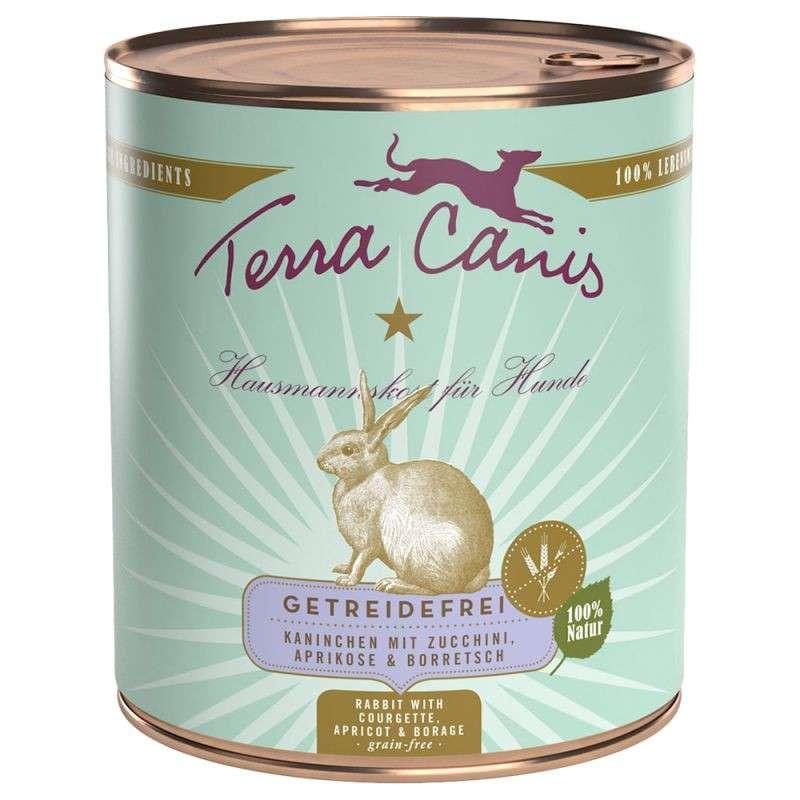 Terra Canis Grainfree, Rabbit with Courgette, Apricot & Borage 800 g