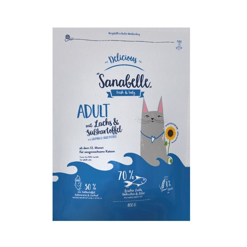Sanabelle Delicious with Salmon & Sweet Potato 400 g 4015598016421 anmeldelser