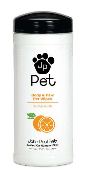 John Paul Pet Body & Paw Pet Wipes EAN: 0876065100012 reviews