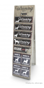 D&D Homecollection Warning Sign Display Wood 160x10x45 cm from Europet-Bernina