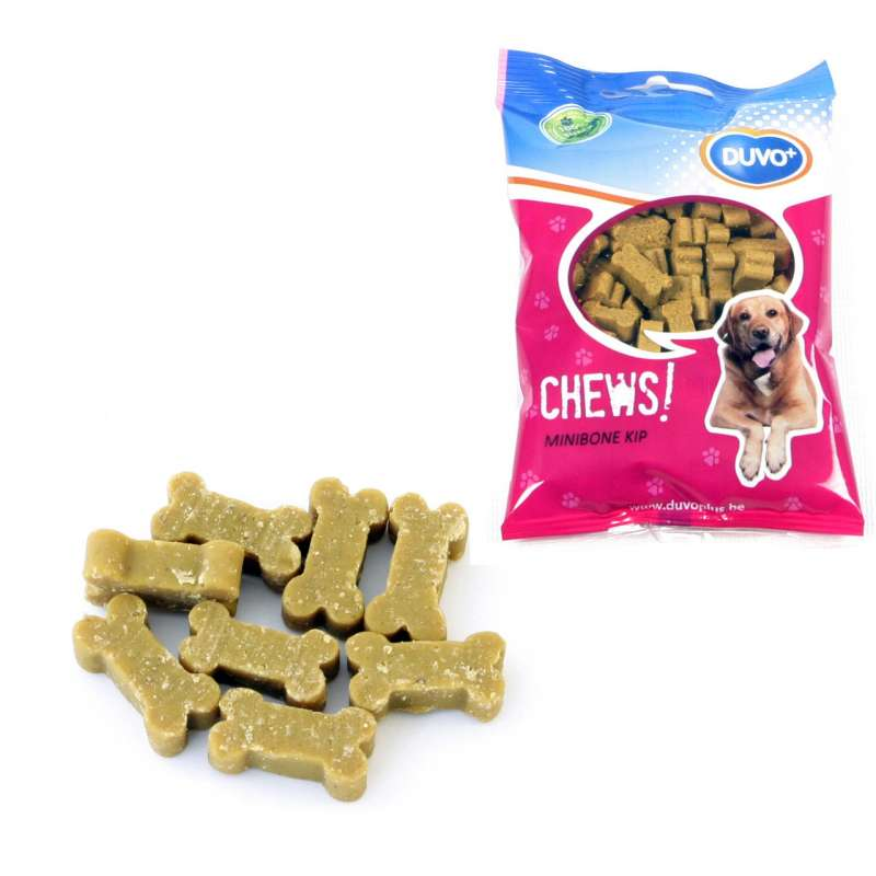 DUVO+ Soft Chew Mini Bone Chicken 125 g osta edullisesti