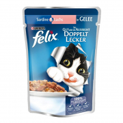 Felix As Good as it Looks Doubly Delicious Fish with Sardine & Salmon in Jelly 100 g