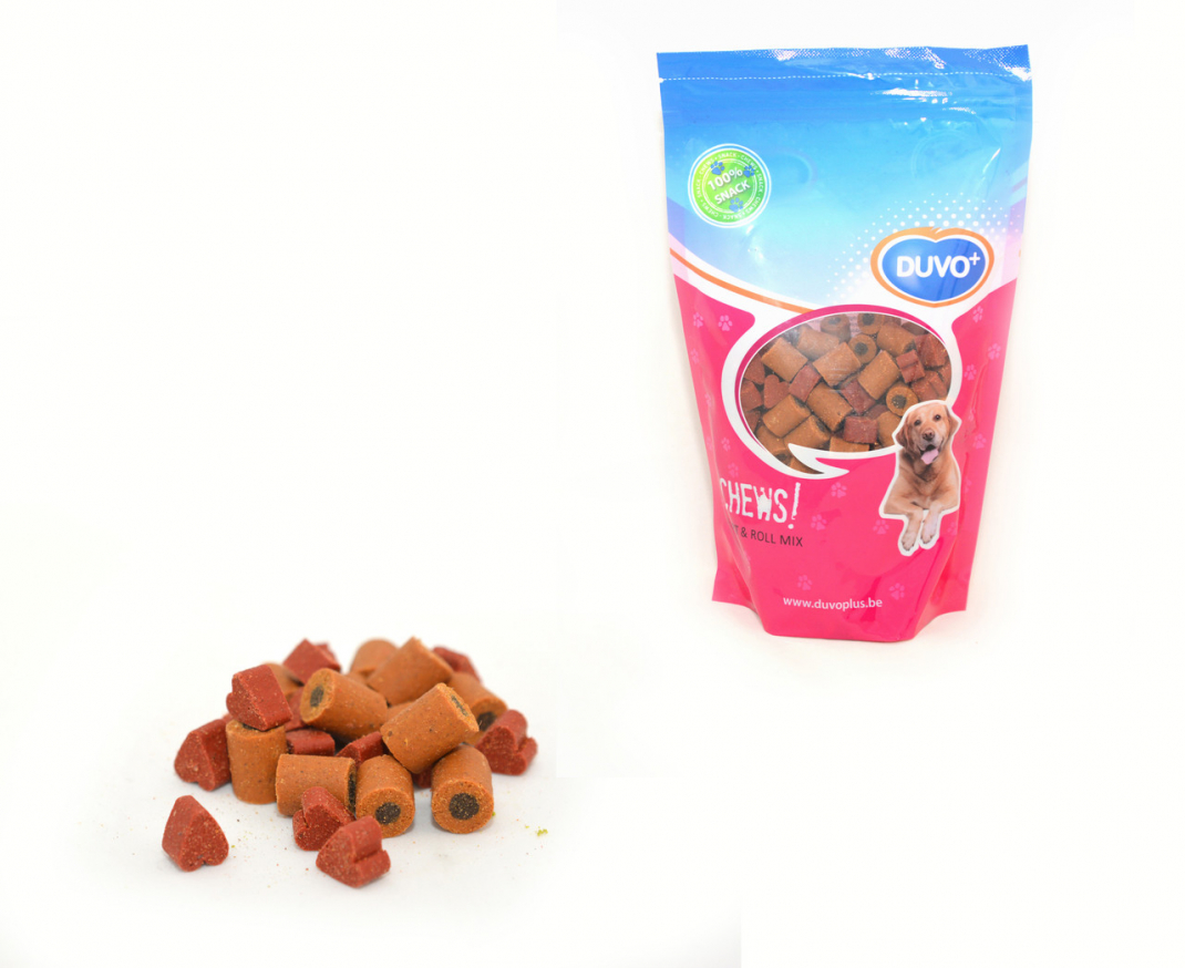 DUVO+ Soft Chew Mix Coeur/Rouleau Doypack 450 g