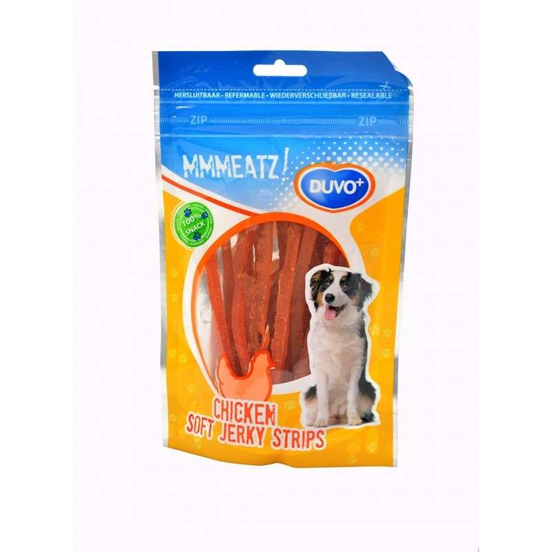 Soft Chicken Jerky Strips from DUVO+ 100 g buy online