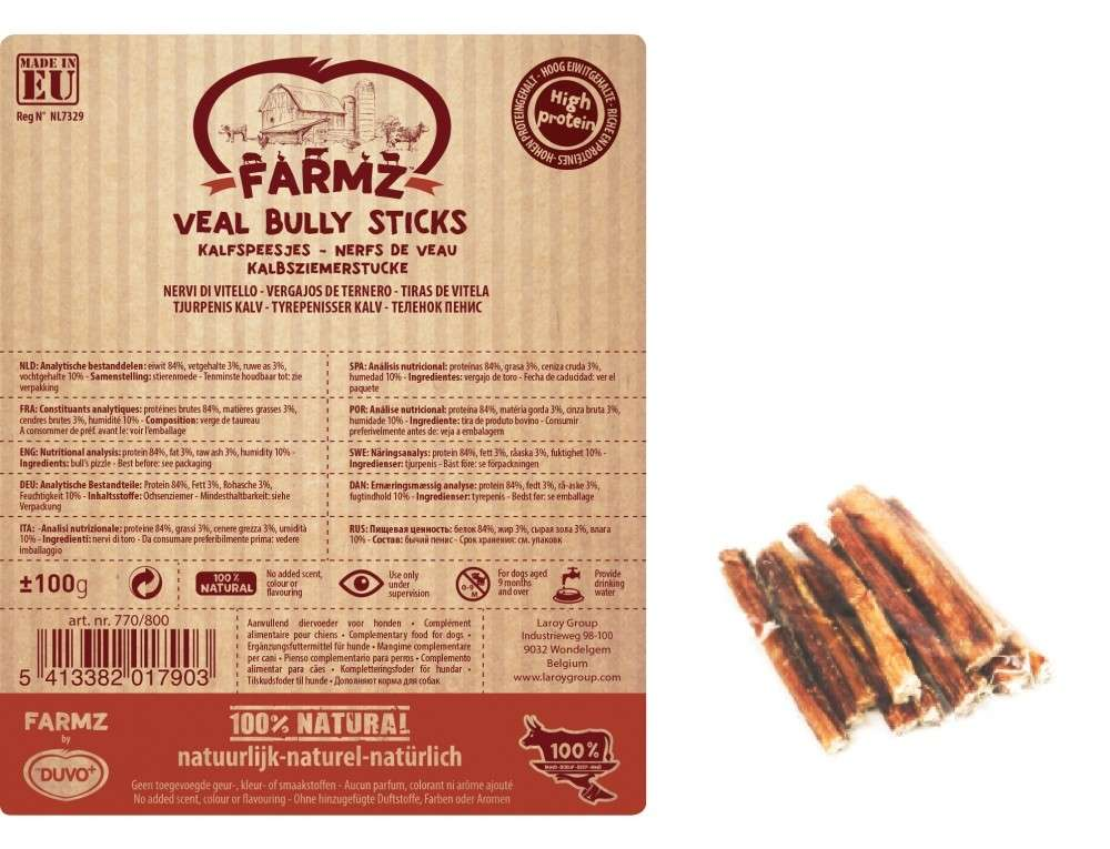 Farmz Veal Bully Sticks from DUVO+ 100 g buy online
