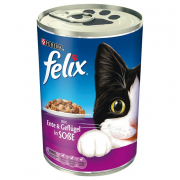 Felix Chunks with Duck & Poultry in Jelly 400 g