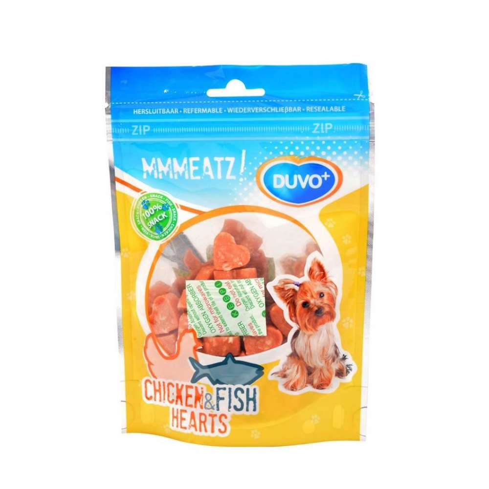 DUVO+ Chicken & Pollock Hearts 100 g bei Zoobio.at