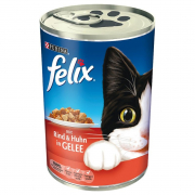 Felix Chunks with Beef & Chicken in Jelly 400 g