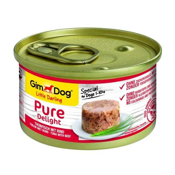 GimDog Little Darling Pure Delight com Atum e Carne de Vaca 85 g, 150 g