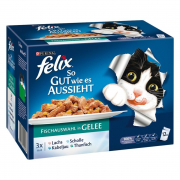 Multipack As Good as it Looks Ocean Feasts in Jelly from Felix 12x100 g