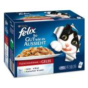 Felix Multipack As Good as it Looks with Meat Menus in Jelly 12x100 g
