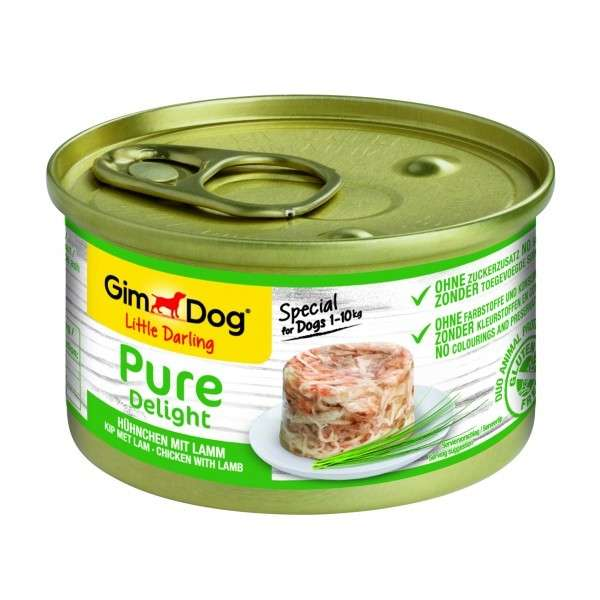 GimDog Little Darling Pure Delight Poulet avec Agneau 85 g, 150 g