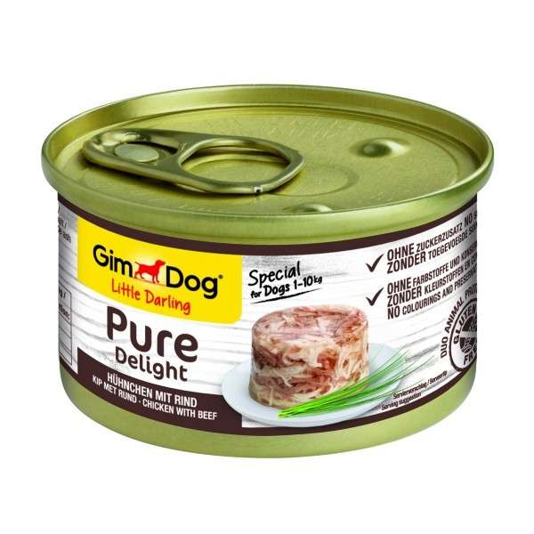 GimDog Little Darling Pure Delight Hühnchen mit Rind 85 g