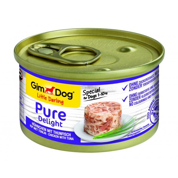 GimDog Little Darling Pure Delight Poulet avec Thon 85 g, 150 g