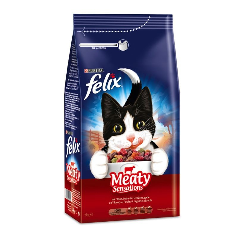 Felix Meaty Sensations with Meat 1 kg, 2 kg test