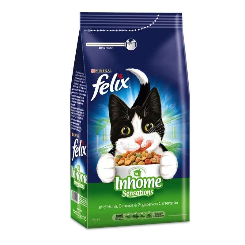 Felix Inhome Sensations with Chicken, Cereals and Greens 2 kg, 1 kg test