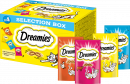 Dreamies Selection Box with Chicken, Cheese, Salmon and Beef 4x30 g