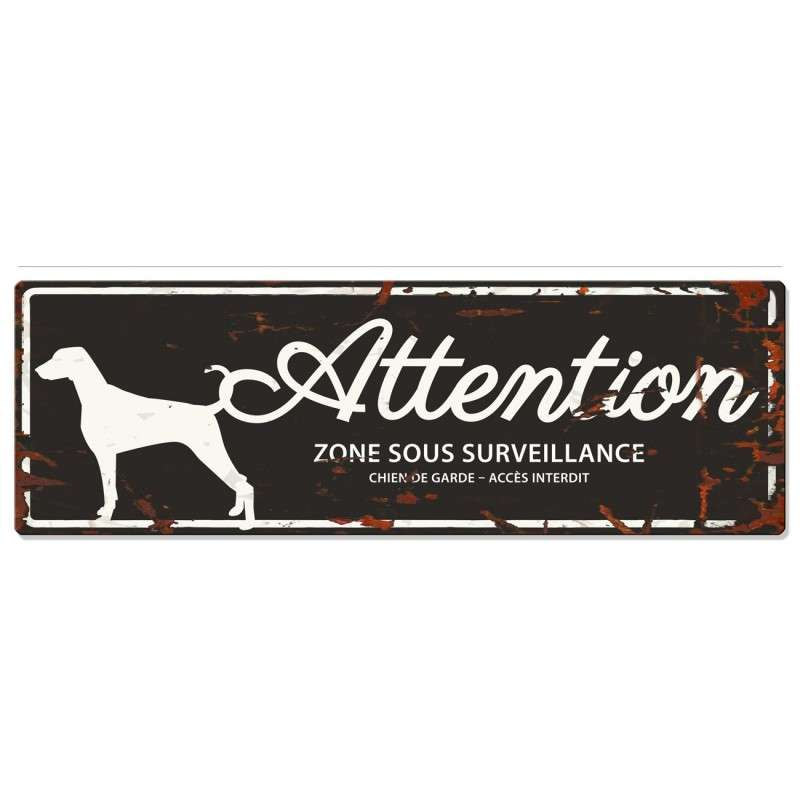 Europet-Bernina D&D Homecollection Plaque Attention Dalmatien, Noir  Noir Dalmatien, rectangulaire