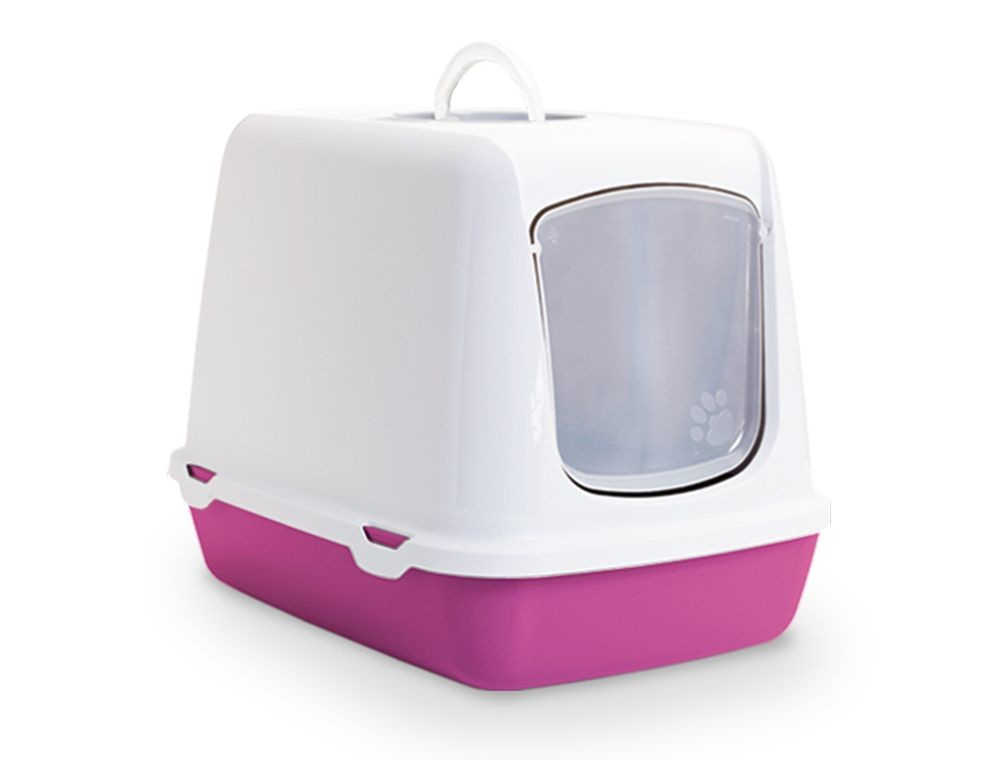 Savic Cat Litter Box Oscar Retro Fuchsia  buy online