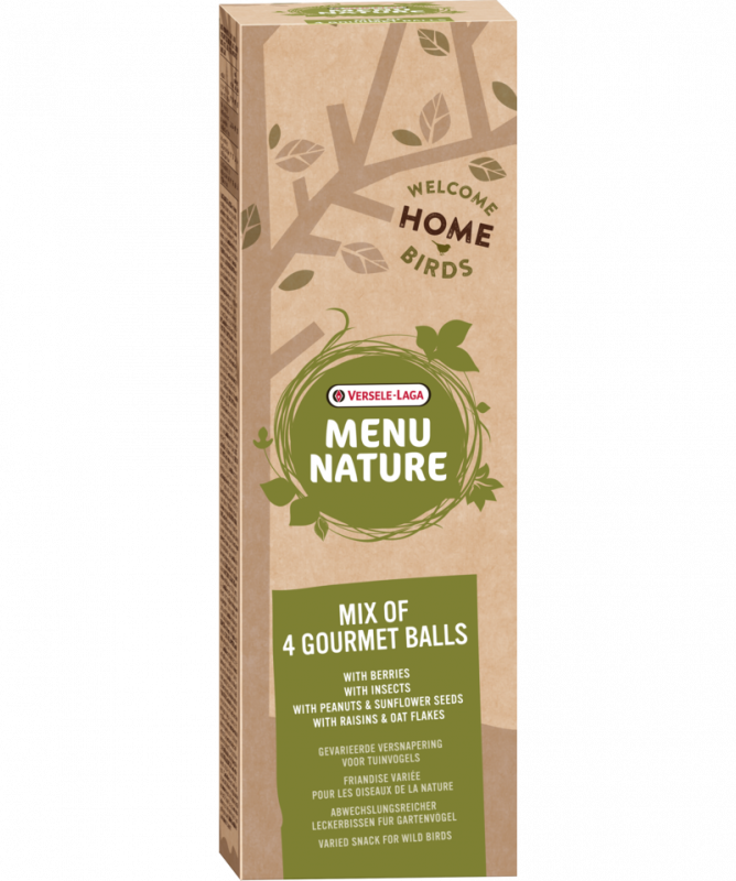 Versele Laga Menu Nature Mix of 4 Gourmet Balls 5410340644133 opinião